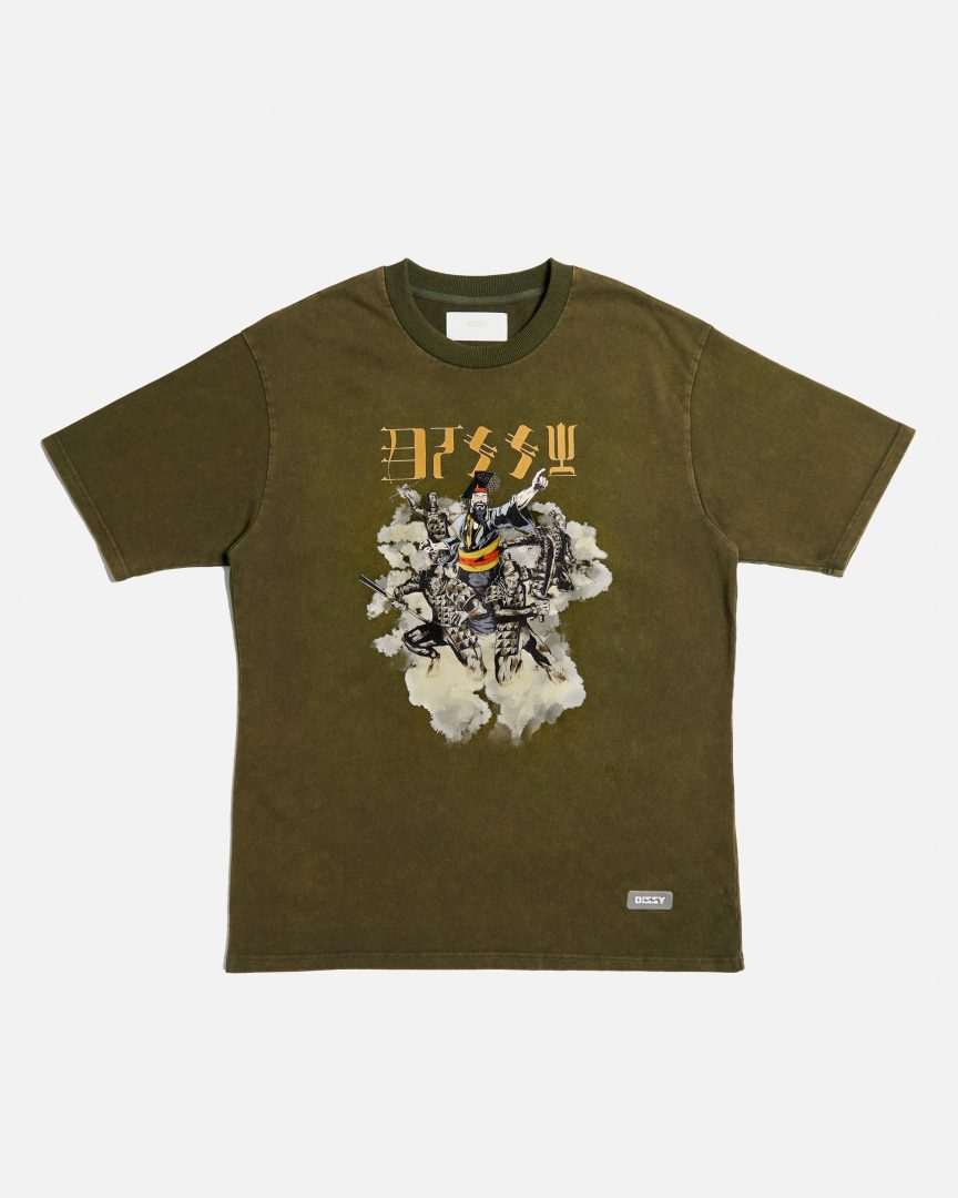 290 qin stone washed tee army green 01