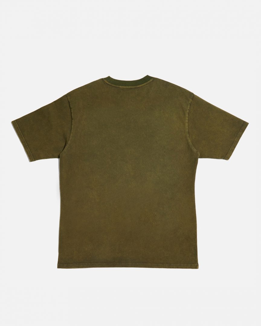 290 qin stone washed tee army green 02
